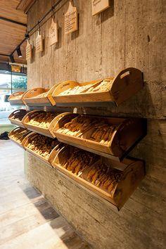 Constantinos Bikas interior designer – Kogia bakery on Behance Bakery Store, Dog Bakery, Bakery Cafe, Cafe Restaurant, Restaurant Design, Bakery Shop Design, Cafe Design, Store Design, Bakery Interior Design