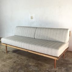Today on Modern Builds, learn how to build your own mid century inspired  sofa / daybed. This project had a lot of firsts for me; first half-lap  joints, first doweling, and first time incorporating upholstery.