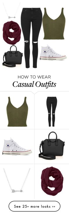 """Casual"" by ebonymcrae on Polyvore featuring Topshop, Converse, Givenchy, Athleta and Adina Reyter"