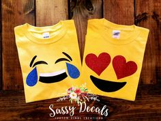 Emoji shirt multiple emoji options
