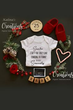 Christmas Pregnancy Announcement for Social Media – Baby Announcement Cute Baby Announcements, Baby Announcement Pictures, Pregnancy Announcement Photos, Pregnancy Photos, Pregnancy Tips, Grandparent Pregnancy Announcement, Pregnancy Calendar, Pregnancy Belly, Pregnancy Pillow
