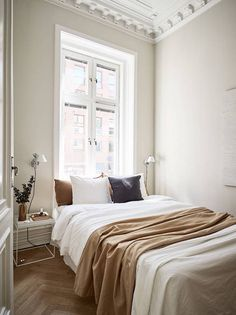 my scandinavian home: A Swedish Small Space in Cream and Caramel Tones