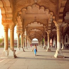 Liz......From our trip to India: exploring the Diwan-i-Am, or Hall of Audience, at the Agra Fort. Photo by TravelPlusStyle.com •