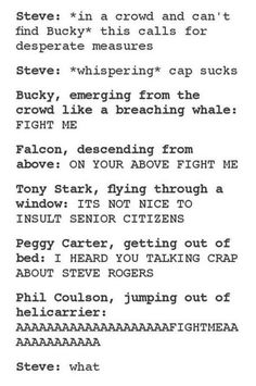 Never insult Steve Rogers, even if you ARE Steve Rogers