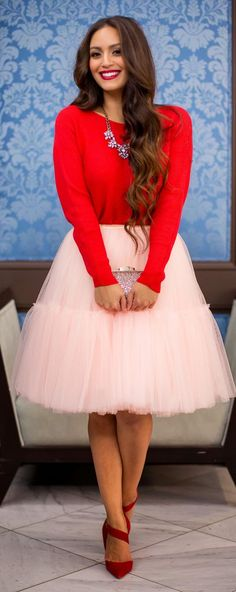 Light Pink Tulle Skirt