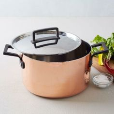 Everything's yummy when cooked in this Tri-Ply Copper 6.5 Quart Stock Pot from West Elm #poachit