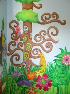 Birds & Trees mural