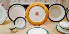 Jogo de porcelanas da Casa Branca, usada nos banquetes oficiais #statedinner #statebanquet #whitehouse #amenimario