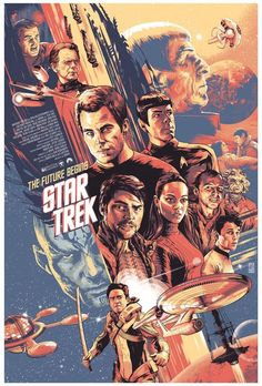 Star Trek 2009 poster - Private comission on Behance Horror Movie Posters, Best Movie Posters, Movie Poster Art, Comic Poster, Horror Films, Star Trek 2009, Star Trek Movies, Sci Fi Movies, Movies 2019
