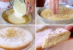 The famous Torta Della Nonna, a stuffed Italian cake. Italian Cake, Italian Desserts, Köstliche Desserts, Delicious Desserts, Yummy Food, Sweet Recipes, Cake Recipes, Sweet Pastries, Sweet Pie