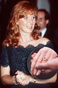 http://rubies.work/0184-ruby-rings/ Sarah Ferguson's engagement ring.