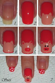 Piggy Nail Art Tutorial    /   Beauty By Suzi : Nail Art & Design
