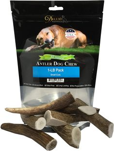 (This is an affiliate pin) Deluxe Naturals 1-LB Pack Antlers for Dogs, Grade A Premium Naturally Shed Elk Antlers for Dogs, Product of USA Elk Antlers For Dogs, Teeth Cleaning, Small Dogs, Pet Supplies, Shed, Packing, Usa, Dog Crates, Nature