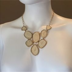 Fiona Bib necklace NWOT - Stella and Dot Fiona Bib necklace. Never worn, new in box Stella & Dot Jewelry Necklaces