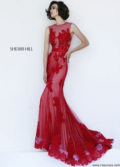 Sherri Hill 4325 Sexy Red Lace Evening Gown - Prom 2015