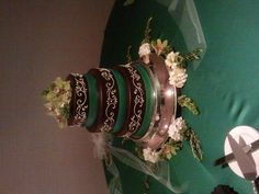 Our wedding cake. Cheesecake by Simmas.(which is the best) Flowers by The Shorewood Florist.