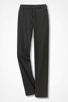 Modern Stretch Flannel Trousers - Coldwater Creek