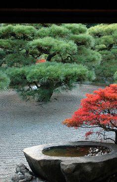 View from the Kikugetsu-tei Teahouse - Ritsurin Park