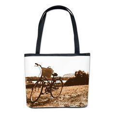 Biking Along The Ohio Bucket Bag