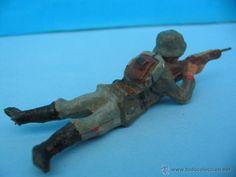 Juguetes Antiguos: Massesoldaten. Antiguo soldadito . De Elastolin. - Foto 2 - 54921055