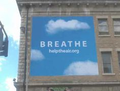 Breathe building sign