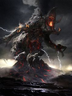 Kronos Picture  (2d, fantasy, creature, volcano, monster)
