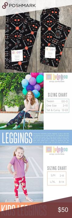 NWT Mommy & Me matching LuLaRoe Leggings This is a matching set of LuLaRoe's buttery soft leggings so that you and your daughter can wear similar cute outfits 😍. The first pair is OS (one size) and the child's pair is L/XL. sizing charts have been included to ensure you have correct fit. Solids black leggings with white and coral colored design LuLaRoe Pants Leggings
