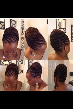 These 3 Cute Flat Twist Hairstyles Take Winning Prize – For Being Some Of The Best Back To School Styles Ever ⋆ African American Hairstyle Videos - AAHV Ghana Braids Hairstyles, Black Hair Updo Hairstyles, Flat Twist Hairstyles, Flat Twist Updo, Dreadlock Hairstyles, Wedding Hairstyles, Dreadlocks Updo, Cornrows Updo, Sisterlocks