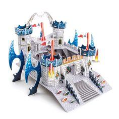 Een nieuwe vaderland voor draken als 3D puzzel: De middeleeuwse drakenburcht kan makkelijk ineen gestopt worden en heeft geen lijm of schaar nodig. Kinderen in de kleuterleeftijd scholen zo hun fijne motoriek en ruimtelijke voorstellingsvermogen.