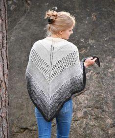 Hartiahuivi liukuvärillä kauniin kolmion mallisena - Kotiliesi.fi Knit Crochet, Diy Ideas, Pullover, Knitting, Lace, Sweaters, Tops, Women, Fashion