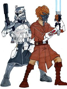 General Plo and Commander Wolffe