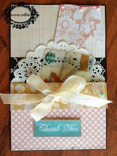 TERESA COLLINS DESIGN TEAM: Gift Card Holders tutorial featuring Summer Stories by Yvonne Blair