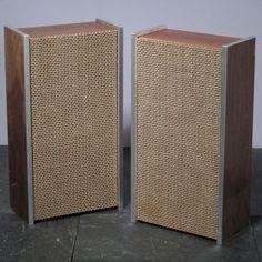 Vintage Grundig 525 Speakers Hi Fi Loudspeakers Mid Century Modern ...