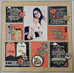 I love coral & navy together! I need to do this layout with some theme either way. Wedding Scrapbook Pages, Mini Albums Scrapbook, Baby Scrapbook, Scrapbook Layout Sketches, Scrapbooking Layouts, Create Your Own Background, Project Life Layouts, Photos, Embosser