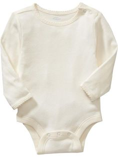 Scallop-Trim Bodysuit for Baby