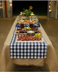 We'll have the opposite with Black & white check tablecloths with Burlap Accents