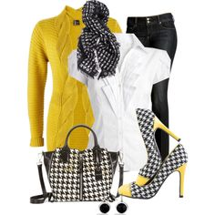 """""""Houndstooth"""" by justbeccuz on Polyvore"""