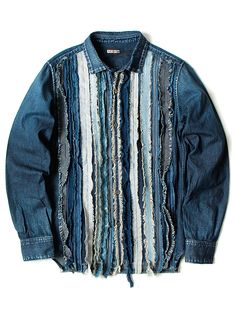 MENSWEAR | DENIM | PINSTRIP | APPLIQUE | MONOTONE | BLUE | NAVY | JACKET | SHORT LENGHT | MASCULINE |