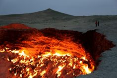 Top 10 Unusual Landscapes - Gates to Hell, Turkmenistan It is estimated that Turkmenistan owns the world's fifth largest reserves of natural gas. In May 2011, this was discovered in Turkmenistan – the second largest gas deposit, the South Yoloten gas field. It covers 1,500 square miles and is preceded by Iran's South Pars gas field, the world's largest.  Read more: http://www.toptenz.net/top-10-unusual-landscapes.php#ixzz2OmZF3yH6