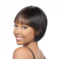 HH Remi wig is precut and trimmed to be customized to your personal needs and can be worn instantly.  The straight bang trimmed to a length that will not irritate your eyes and designed to look more natural than traditional china bang.