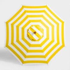 Yellow Awning Stripe 9 ft Umbrella Canopy