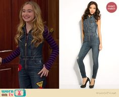 Maya's denim zip front jumpsuit and zebra patterned ankle boots on Girl Meets World Fashion Tv, Tween Fashion, School Fashion, Girl Fashion, Summer Outfits, Casual Outfits, Girl Outfits, Cute Outfits, Girl Meets World