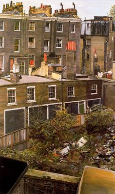 Lucian Freud Wasteground with Houses