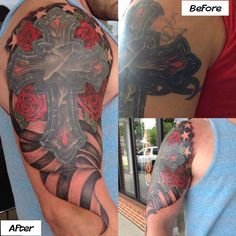 ... Tattoos and Body Piercing : Tattoos : Memorial : Patriotic Cover Up