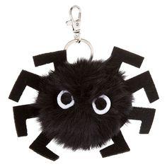 Spider Pom Pom Key Ring