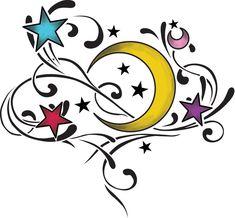 Tribal Stars And Moon Tattoos | moon stars tattoo by ~smarelda on deviantART
