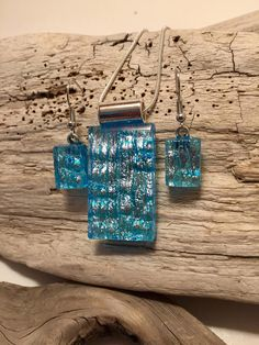 Dichroic glass dichroic glass jewelry fused glass handmade