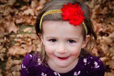 Baby/Child/Girls Shabby Headband Elastic Headband by JandGhandmade, $4.25