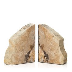 Petrified Wood Bookends - Sequoia