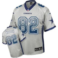 2013 NEW Nike Elite Dallas Cowboys  82 Jason Witten Drift Fashion Grey  Jerseys Save 50 61cd88996